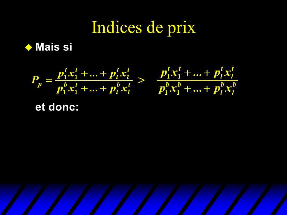 Indices de prix u Mais si et donc:
