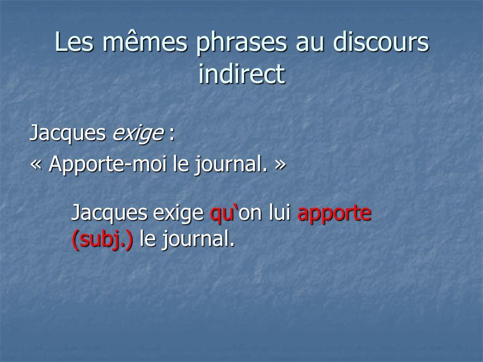 Le temps du verbe principal § 56 I.