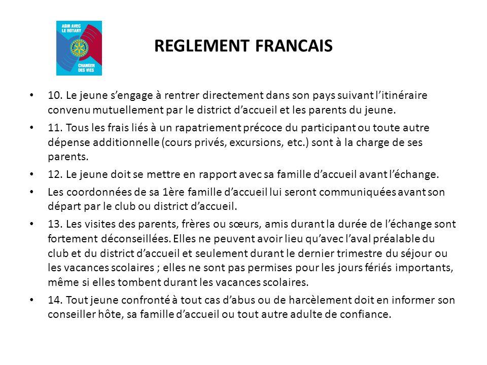 REGLEMENT FRANCAIS 10.