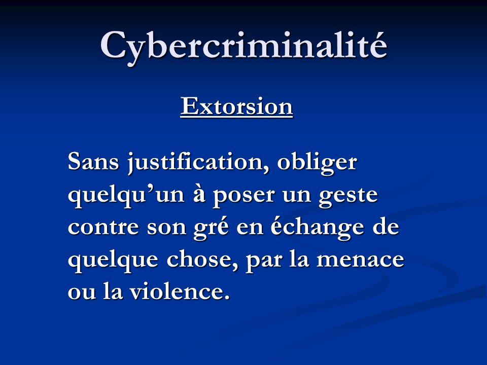 Cybercriminalité Libelle diffamatoire Un é crit ou une image, destin é à nuire à la r é putation de quelqu un en l exposant à la haine, au m é pris, a