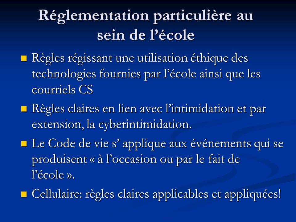 Solutions sur le plan légal Aucune législation spécifique au Québec en lien avec la cyberintimidation Aucune législation spécifique au Québec en lien