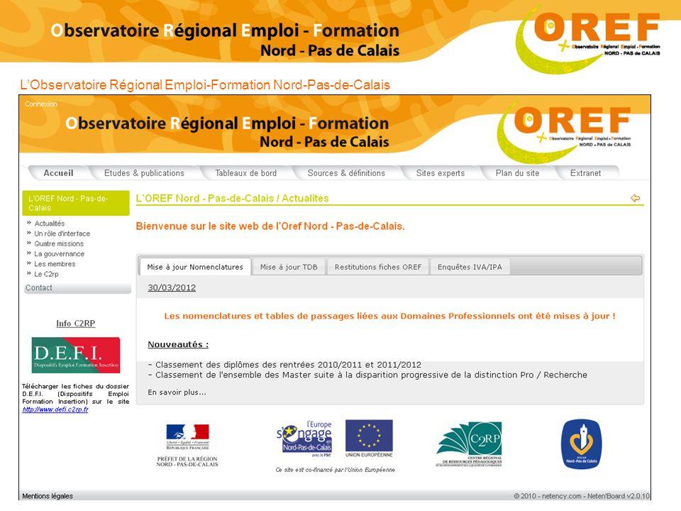 LObservatoire Régional Emploi-Formation Nord-Pas-de-Calais