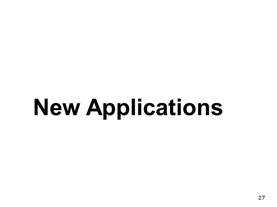 27 New Applications