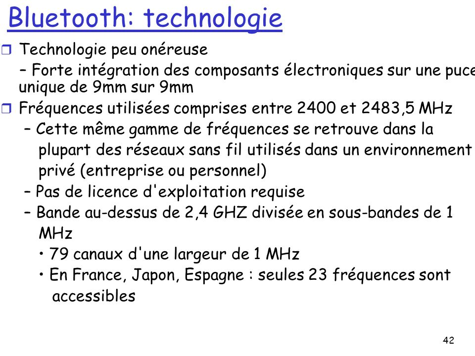 43 Bluetooth Specifications