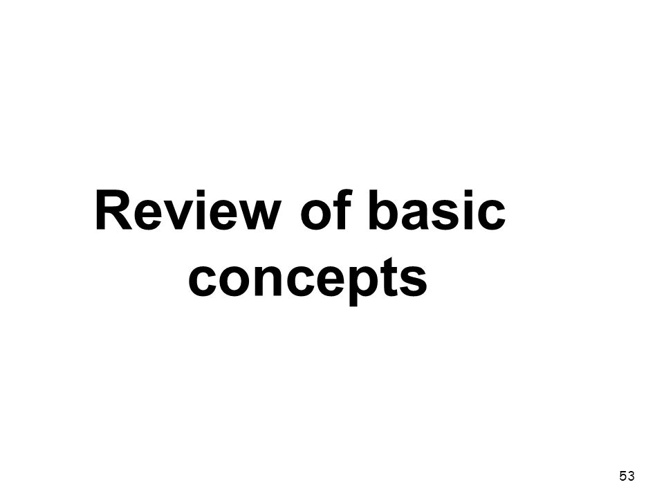 53 Review of basic concepts