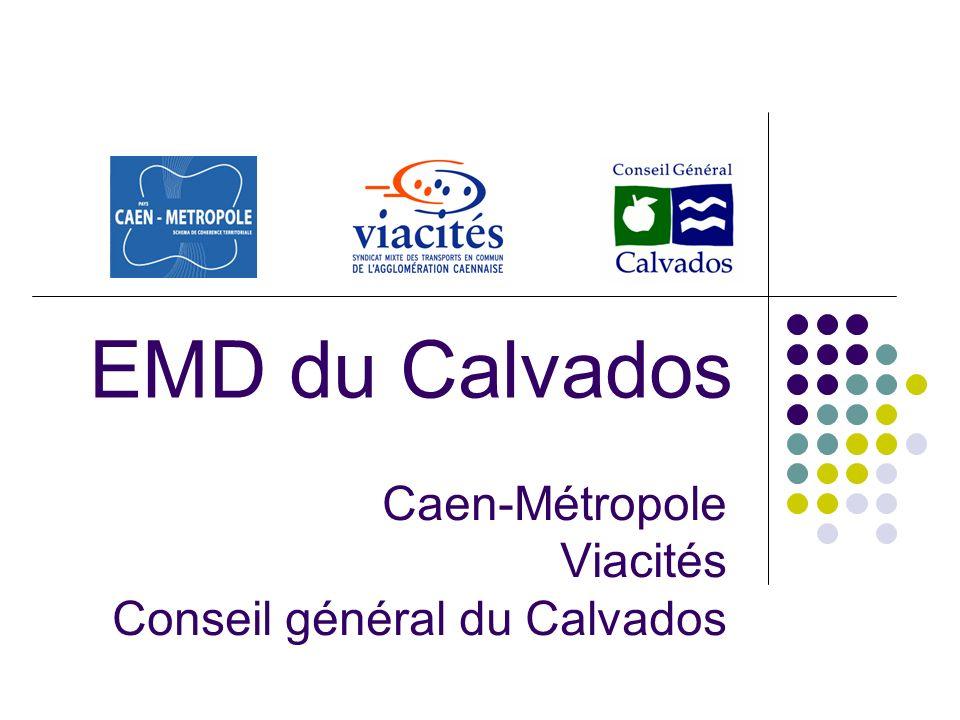 Caen-Métropole Viacités Conseil général du Calvados EMD du Calvados