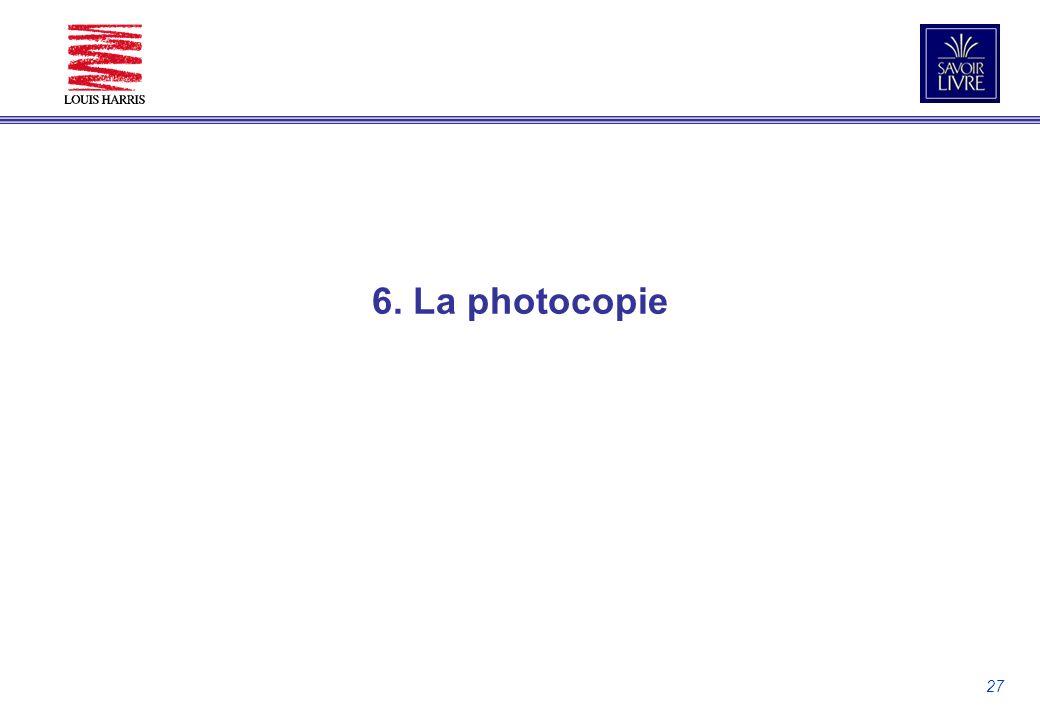 27 6. La photocopie