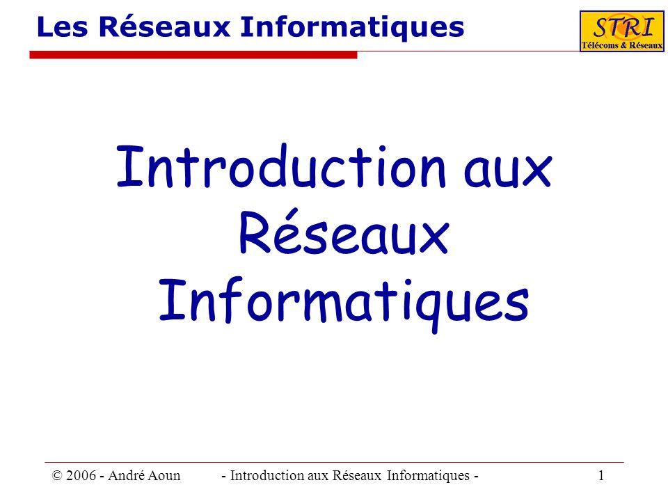 © 2006 - André Aoun - Introduction aux Réseaux Informatiques - 1 Les Réseaux Informatiques Introduction aux Réseaux Informatiques