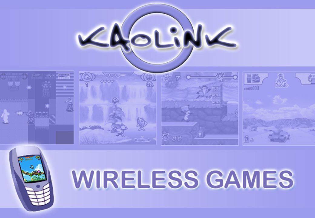 Caractéristiques du marché Marché International 850 millions de joueurs sur Mobile en 2006 (source Arc 2005) Marché en valeur: 1.35 milliards de $ en 2004 1,6 milliards de téléchargements Un marché dominé par les opérateurs Kaolink Idate Novembre 2005