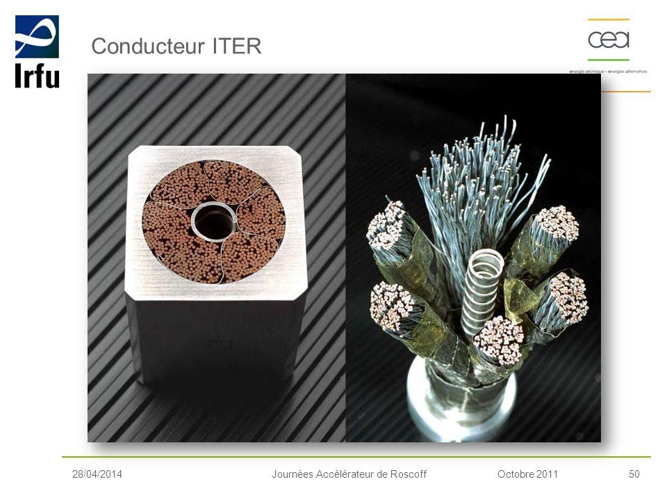 Octobre 201150Journées Accélérateur de Roscoff Conducteur ITER 28/04/2014