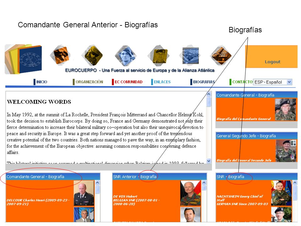 Biografías Comandante General Anterior - Biografías