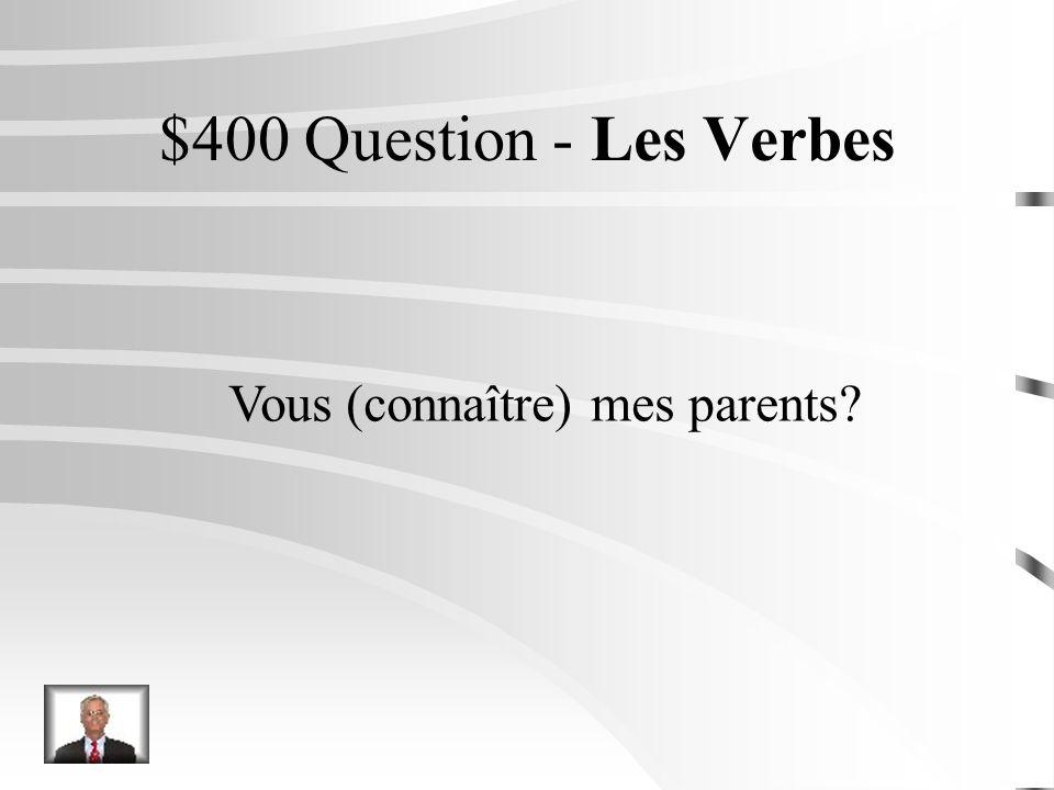 $300 Réponse - Les Verbes Nous écrivons un mail.