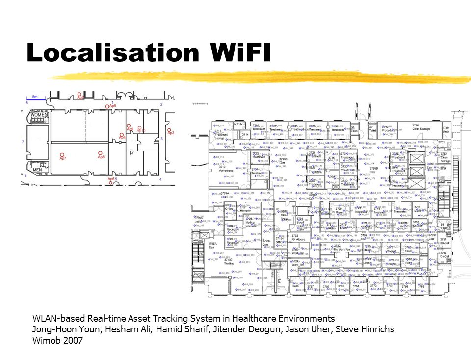 Localisation WiFI WLAN-based Real-time Asset Tracking System in Healthcare Environments Jong-Hoon Youn, Hesham Ali, Hamid Sharif, Jitender Deogun, Jas