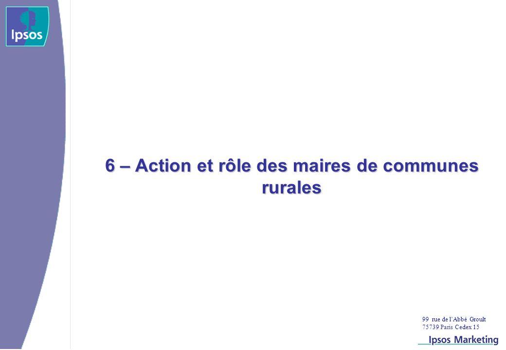 99 rue de lAbbé Groult 75739 Paris Cedex 15 6 – Action et rôle des maires de communes rurales