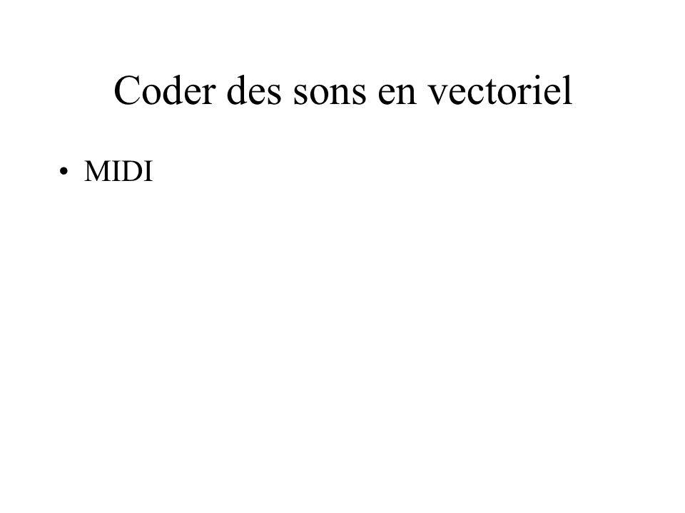 Coder des sons en vectoriel MIDI