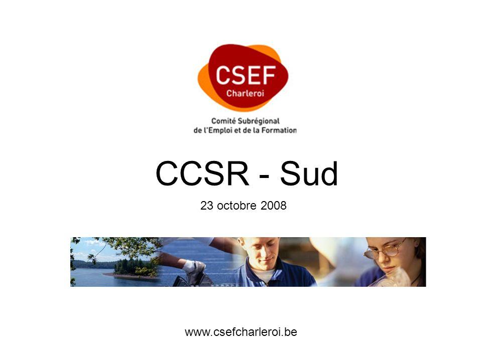 www.csefcharleroi.be CCSR - Sud 23 octobre 2008