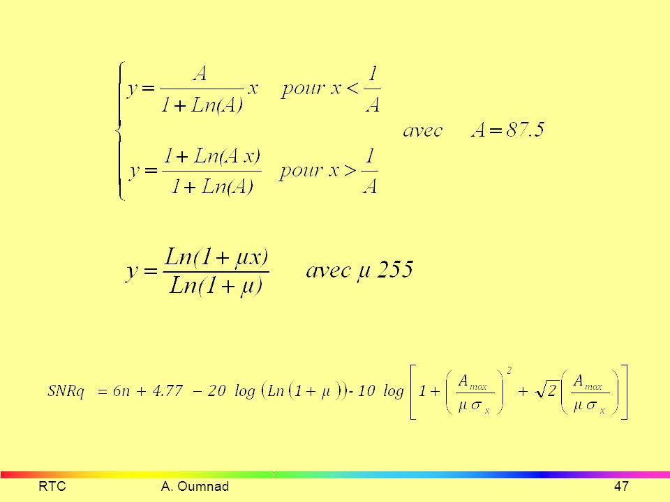 Quantificateur logarithmique RTC A. Oumnad46 1 N V 2 3 4 5 6 7 8 9