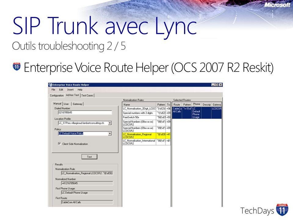 Enterprise Voice Route Helper (OCS 2007 R2 Reskit)