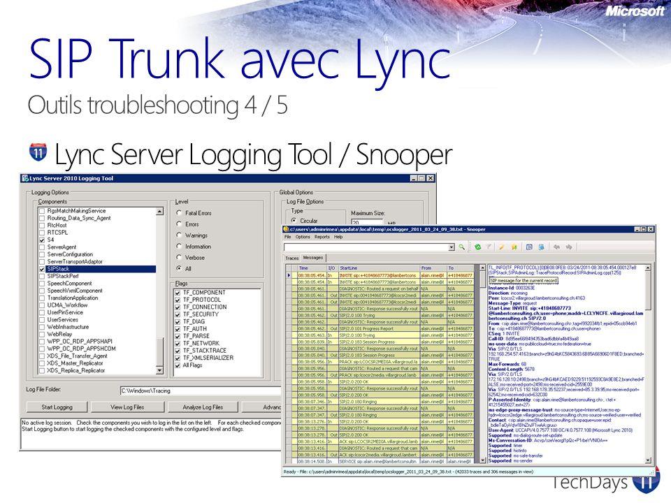 Lync Server Logging Tool / Snooper