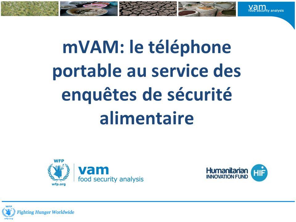 mVAM: le téléphone portable au service des enquêtes de sécurité alimentaire