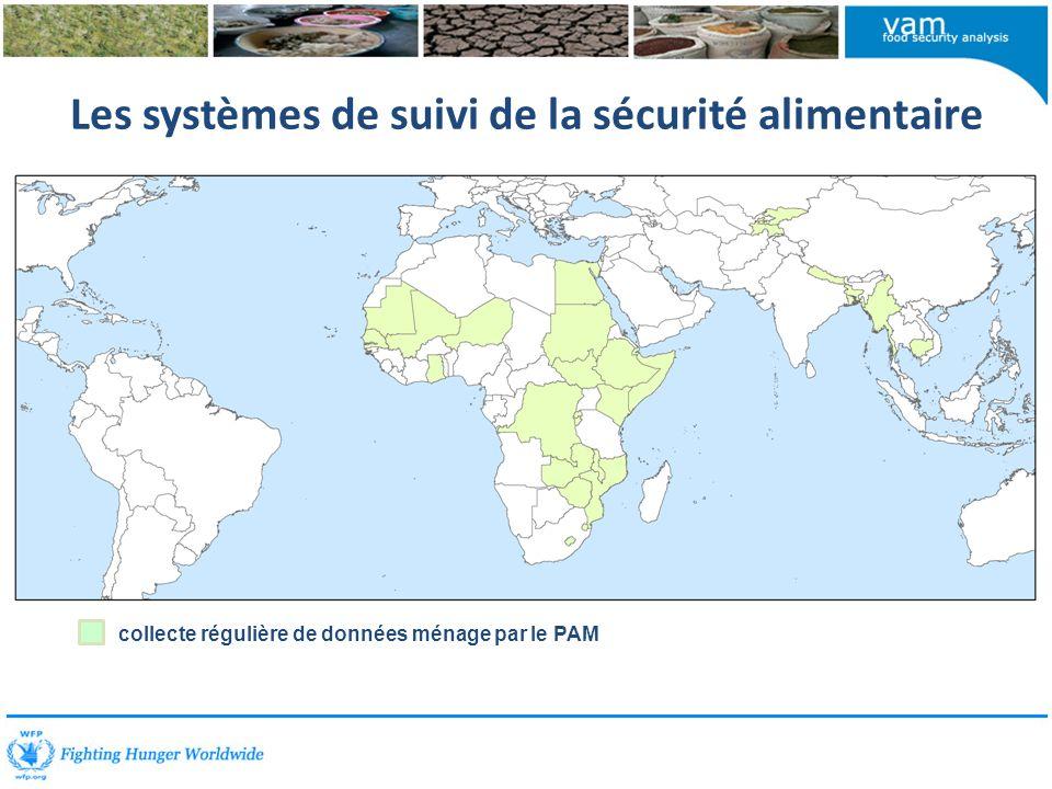 Les systèmes de suivi de la sécurité alimentaire collecte régulière de données ménage par le PAM