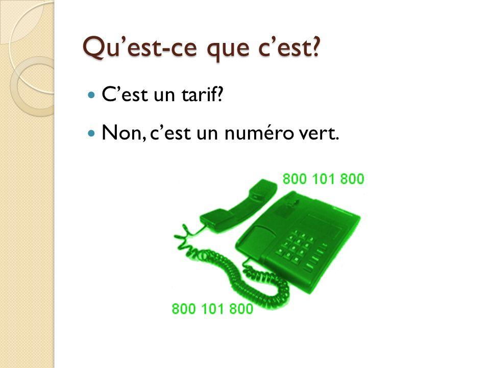 Quest-ce que cest Cest un fax Non, cest un répondeur.