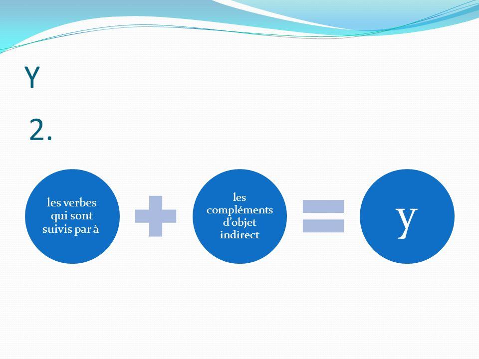 Y les verbes qui sont suivis par à les compléments dobjet indirect y 2.