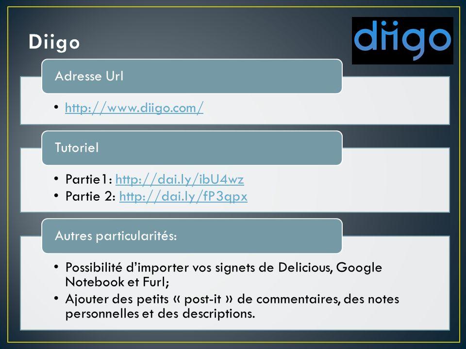http://www.symbaloo.com Adresse URL http://www.youtube.com/watch?v=Drevvt_HMGc Tutoriel Création de « webmix » sous la forme dune page; Les « blocs » (sites) peuvent être publiés sur votre page Facebook, sur Twitter ou sur un site web/blogue.