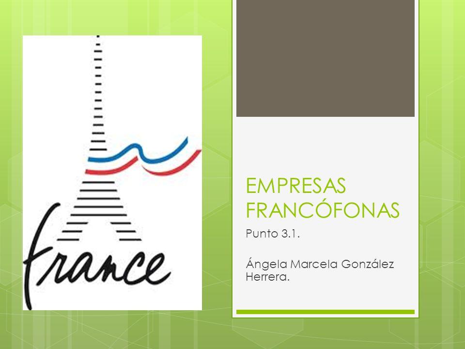 EMPRESAS FRANCÓFONAS Punto 3.1. Ángela Marcela González Herrera.