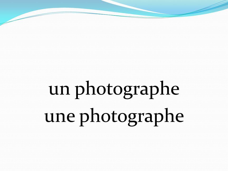 un photographe une photographe
