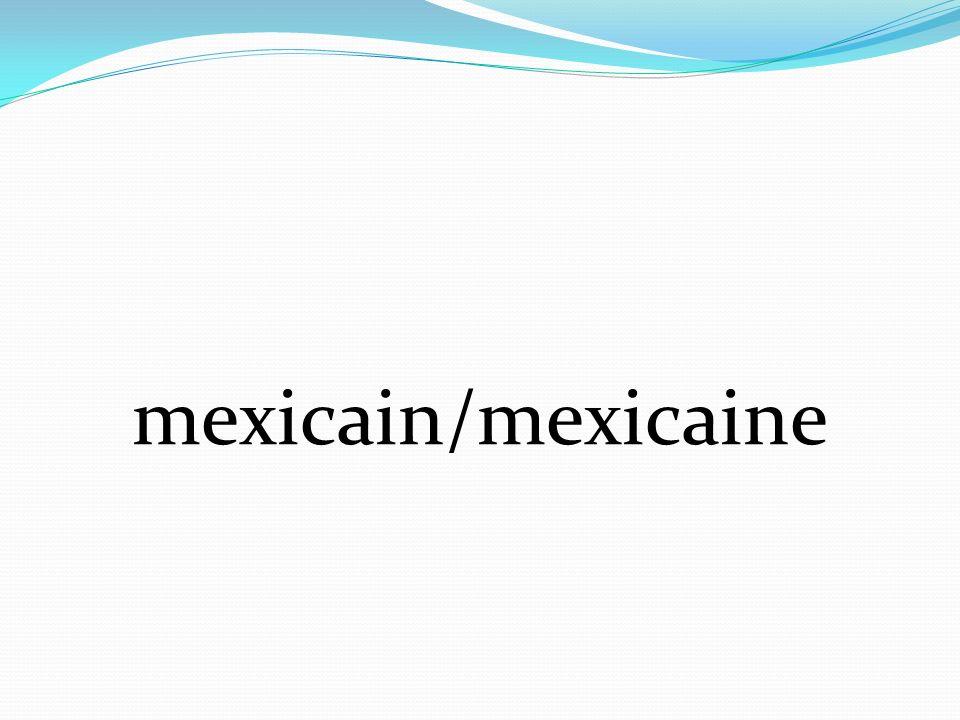 mexicain/mexicaine