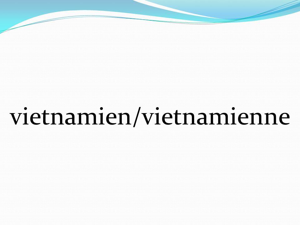 vietnamien/vietnamienne