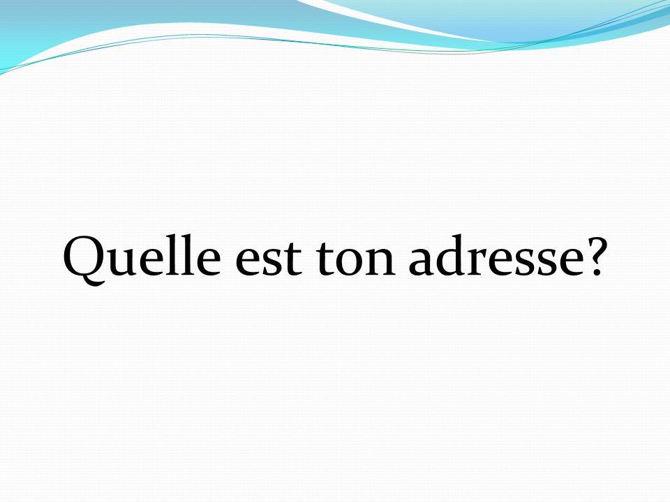 Example: 1. Le ciel est bleu. 2. La mer est bleue. Adjectives are usually placed after the noun