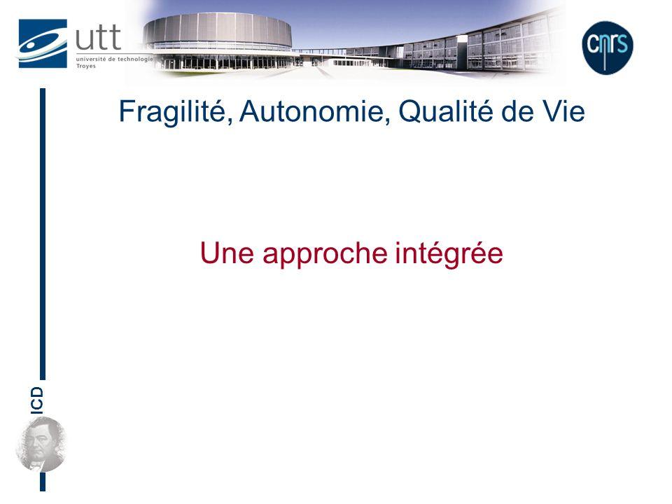 ICD Fragilité, Autonomie, Qualité de Vie Une approche intégrée