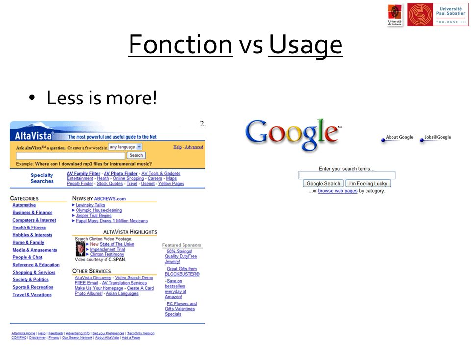 Fonction vs Usage Less is more!