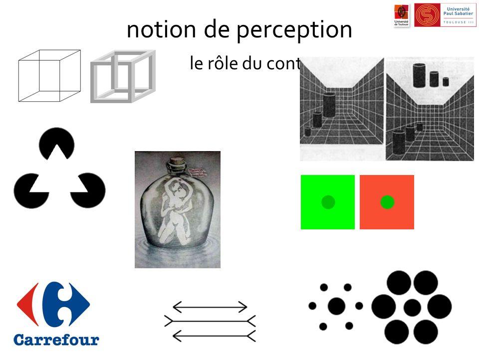 notion de perception le rôle du contexte