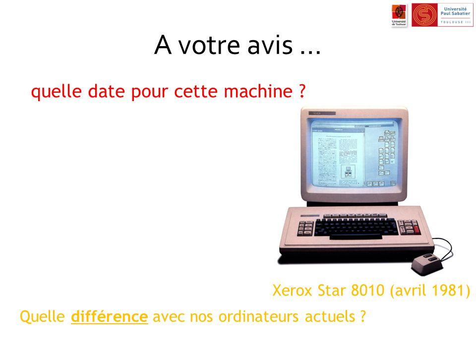 A votre avis … Xerox Star 8010 (avril 1981) quelle date pour cette machine ? Quelle différence avec nos ordinateurs actuels ?