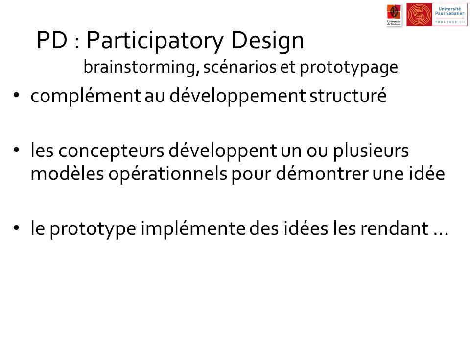 complément au développement structuré les concepteurs développent un ou plusieurs modèles opérationnels pour démontrer une idée le prototype implément