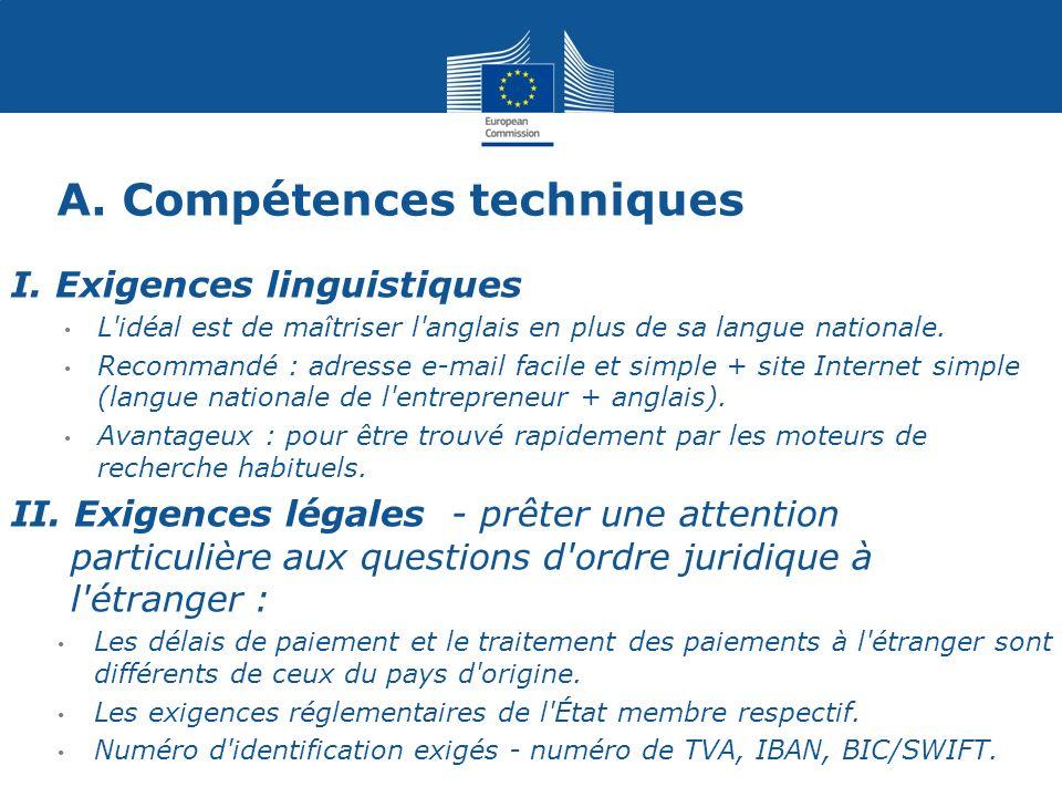 A. Compétences techniques I.