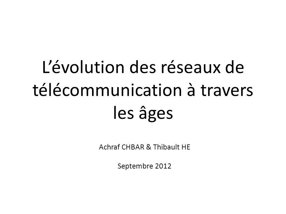 Lévolution des réseaux de télécommunication à travers les âges Achraf CHBAR & Thibault HE Septembre 2012
