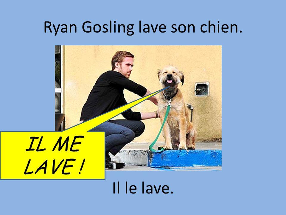 Ryan Gosling lave son chien. Il le lave. IL ME LAVE !