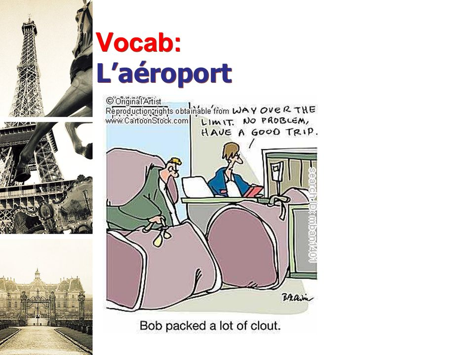 Vocab: Laéroport