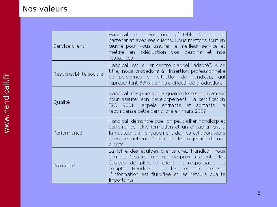 www.handicall.fr Nos valeurs 5