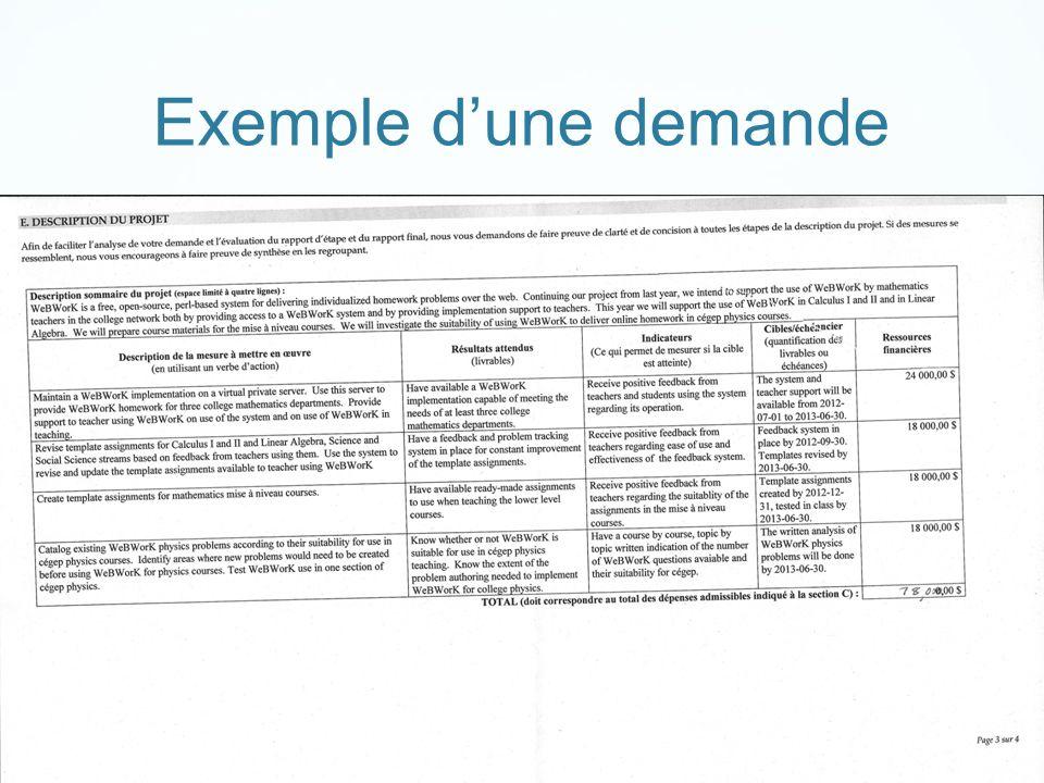 Exemple dune demande AQPC atelier 605, juin 2012