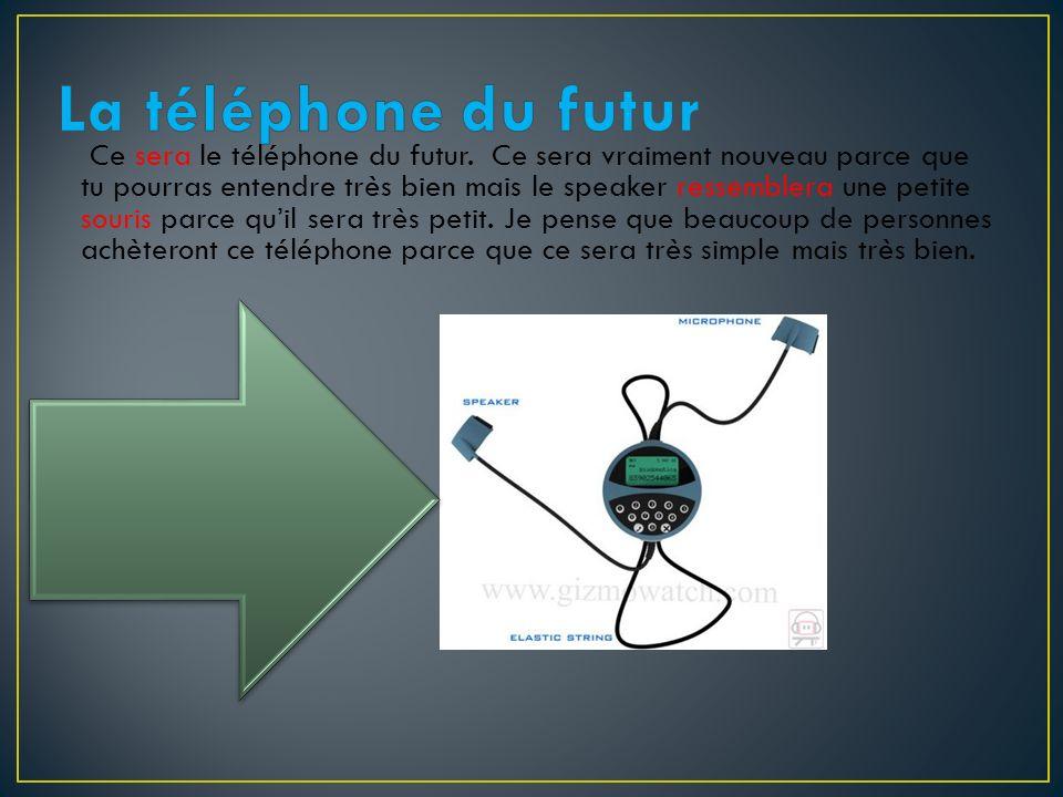 Ce sera le téléphone du futur. Ce sera vraiment nouveau parce que tu pourras entendre très bien mais le speaker ressemblera une petite souris parce qu