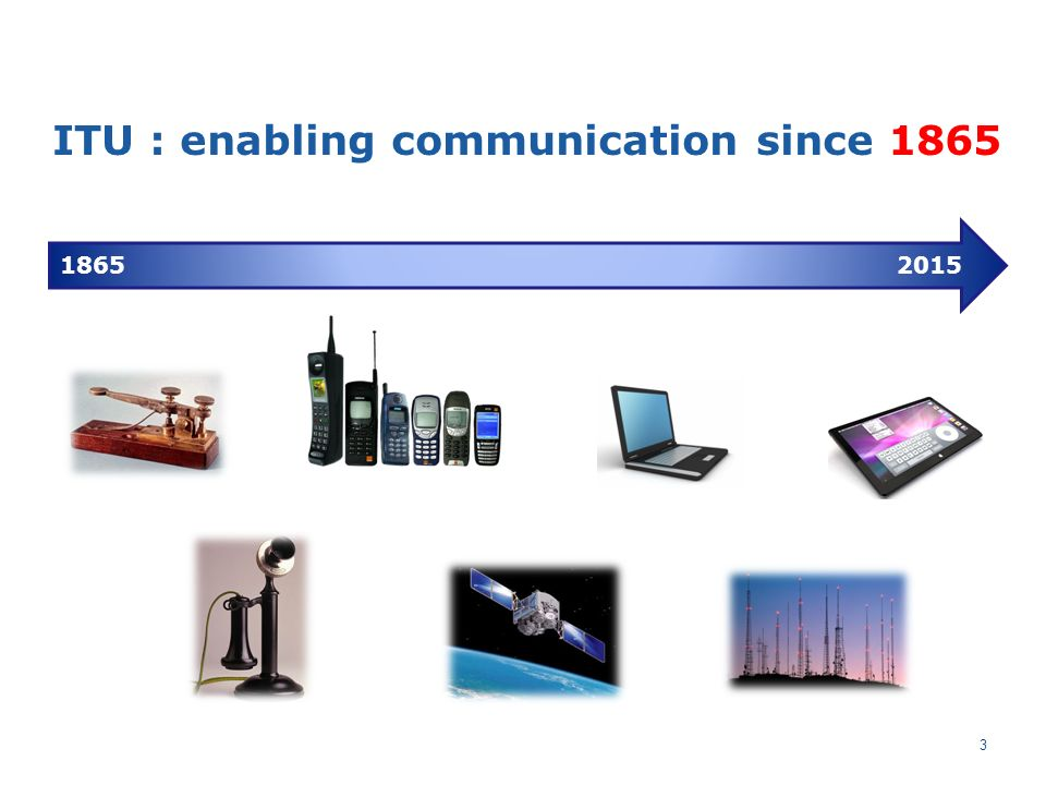 ITU : enabling communication since 1865 18652015 3