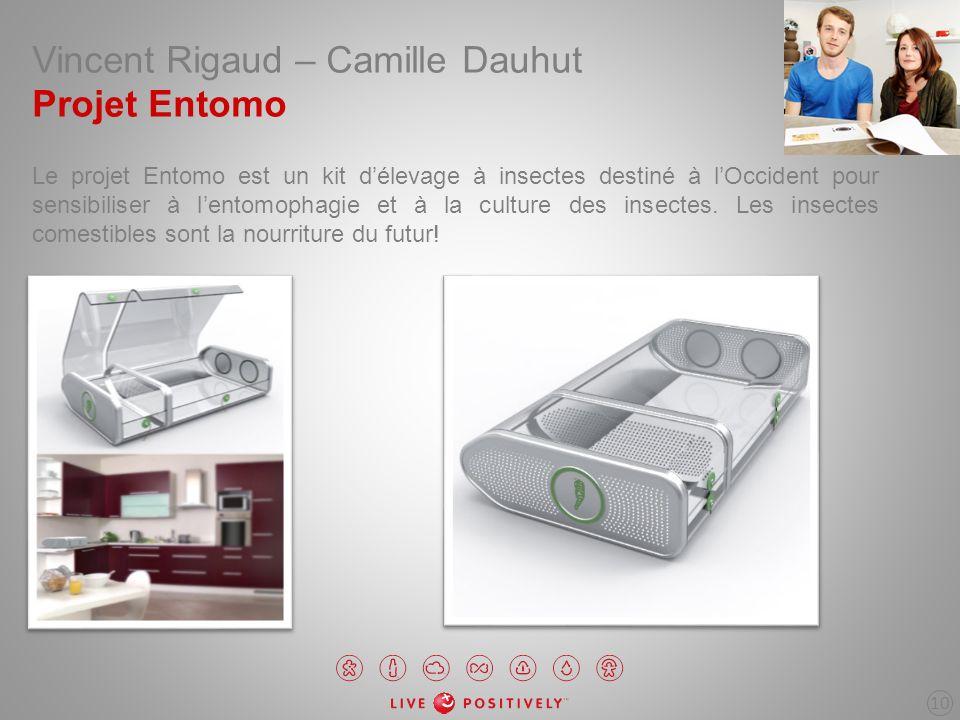 Vincent Rigaud – Camille Dauhut Projet Entomo Le projet Entomo est un kit délevage à insectes destiné à lOccident pour sensibiliser à lentomophagie et