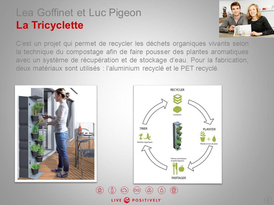 Lea Goffinet et Luc Pigeon La Tricyclette Cest un projet qui permet de recycler les déchets organiques vivants selon la technique du compostage afin d