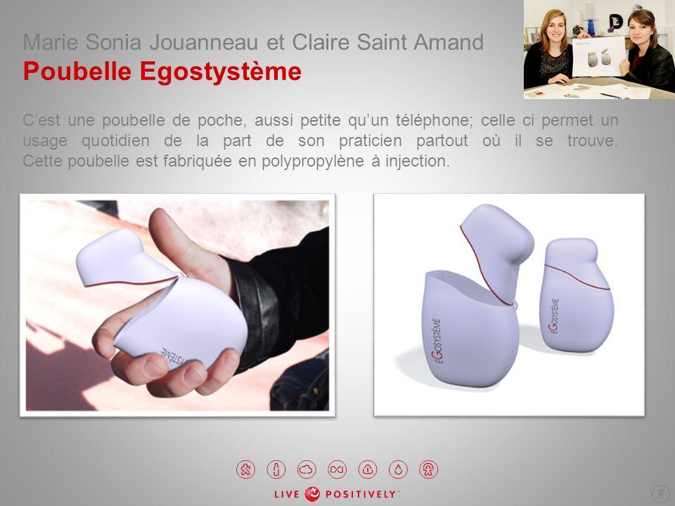 Marie Sonia Jouanneau et Claire Saint Amand Poubelle Egostystème Cest une poubelle de poche, aussi petite quun téléphone; celle ci permet un usage quo