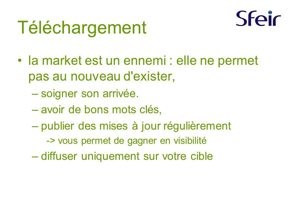 Téléchargement la market est un ennemi : elle ne permet pas au nouveau d exister, –soigner son arrivée.